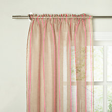 Buy John Lewis Neon Stripe Slot top Voile Panel, Pink Online at johnlewis.com