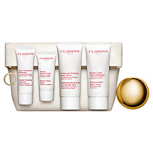 Buy Clarins Face and Body Essentials Skincare Heroes Starter Kit Online at johnlewis.com