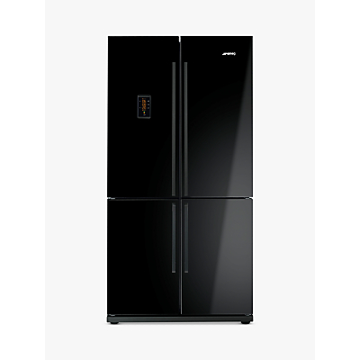 Image of Smeg FQ60NPE 4-Door American Style Fridge Freezer, A+ Energy Rating, 90cm Wide, Black