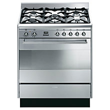 Buy Smeg SUK81MFX8 Dual Fuel Range Cooker, Stainless Steel Online at johnlewis.com