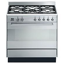 Buy Smeg SUK91MFX8 Dual Fuel Range Cooker, Stainless Steel Online at johnlewis.com