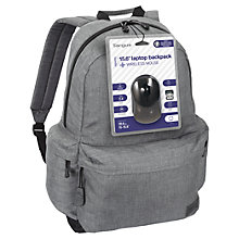 "Buy Targus Strata Backpack for 15.6"" Laptops & Wireless Mouse Online at johnlewis.com"
