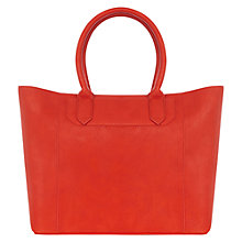 Buy Warehouse Structured Shopper Bag, Bright Red Online at johnlewis.com