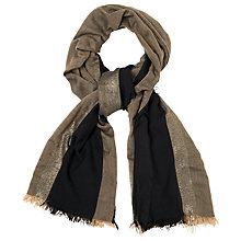 Buy Phase Eight Gia Contrast Edge Scarf, Black/Gold Online at johnlewis.com