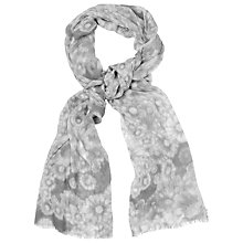Buy Phase Eight Watercolour Flower Scarf, Grey Online at johnlewis.com