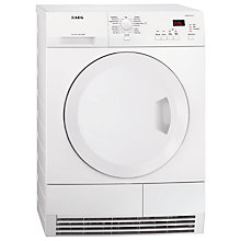 Buy AEG T61275AC ProTex Condenser Tumble Dryer, 7kg Load, B Energy Rating, White Online at johnlewis.com