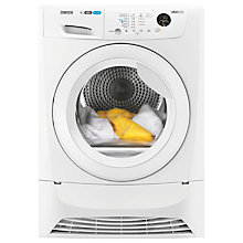 Buy Zanussi ZDH8333W Heat Pump Condenser Tumble Dryer, 8kg Load, A+ Energy Rating, White Online at johnlewis.com