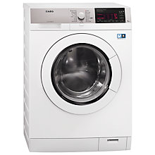 Buy AEG L98480FL Washing Machine, 8kg Load, A+++ Energy Rating, 1400rpm Spin, White Online at johnlewis.com
