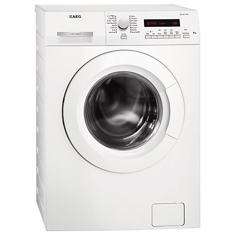 Buy AEG L73483FL Washing Machine, 8kg Load, A+++ Energy Rating, 1400rpm Spin, White Online at johnlewis.com