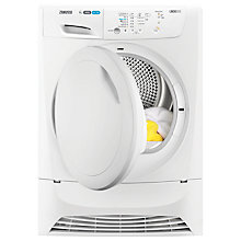 Buy Zanussi ZDC8202P Condenser Tumble Dryer, 8kg Load, B Energy Rating, White Online at johnlewis.com
