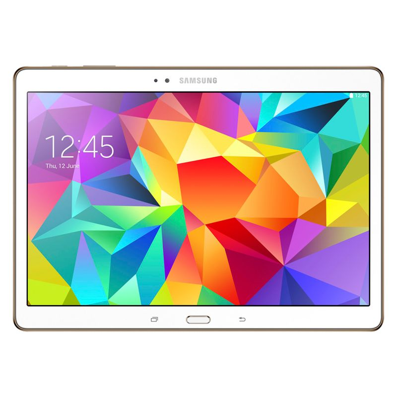 Samsung Galaxy Tab S 10.5 Tablet, Octa-Core Samsung Exynos, Android, 10.5in, 16GB, Wi-Fi, White