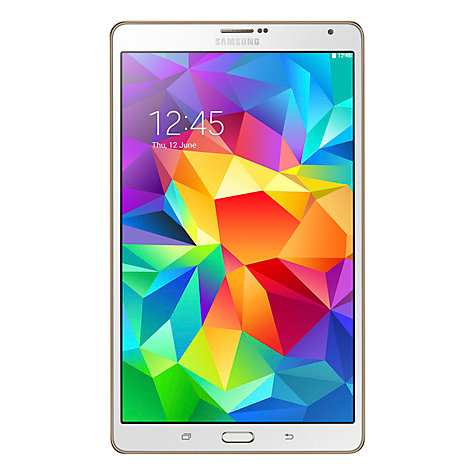 "Buy Samsung Galaxy Tab S 8.4 Tablet, Octa-Core Samsung Exynos, Android, 8.4"" 16GB, Wi-Fi Online at johnlewis.com"