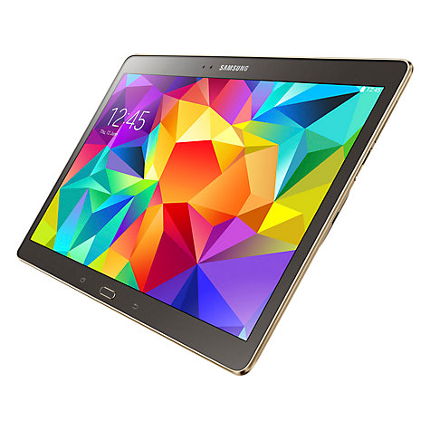 "Buy Samsung Galaxy Tab S 10.5 Tablet, Octa-Core Samsung Exynos, Android, 10.5"", 16GB, Wi-Fi Online at johnlewis.com"