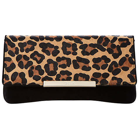 Buy Dune Boost Suede Clutch Bag, Leopard Online at johnlewis.com