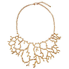 Buy John Lewis Statement Multi Branch Necklace, Gold Online at johnlewis.com
