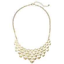 Buy John Lewis Statement Enamel Shell Necklace, Gold Online at johnlewis.com