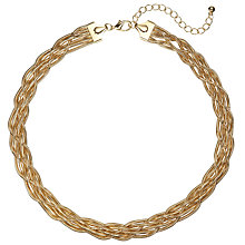 Buy John Lewis Weaved Chain Necklace, Gold Online at johnlewis.com