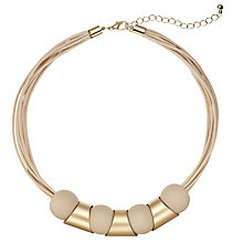 Buy John Lewis Mixed Shapes Cord Necklace Online at johnlewis.com