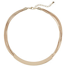 Buy John Lewis Matte Square Tube Cord Necklace Online at johnlewis.com