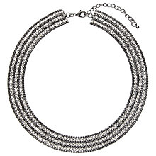 Buy John Lewis Diamante Collar Necklace, Gunmetal / Clear Online at johnlewis.com