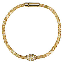 Buy John Lewis Fine Diamante Mesh Bracelet Online at johnlewis.com