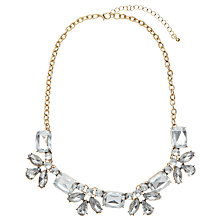 Buy John Lewis Fine Stone Necklace, Gold / Clear Online at johnlewis.com