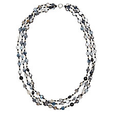 Buy John Lewis Layered Semi-Precious Stone Long Necklace, Black/Green Online at johnlewis.com