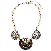 Buy COLLECTION by John Lewis Shell Statement Necklace, Tortoiseshell/Clear Online at johnlewis.com