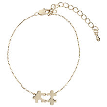 Buy John Lewis Novelty Puzzle Bracelet, Gold Online at johnlewis.com