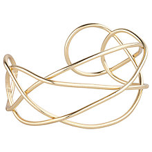 Buy John Lewis Fine Cross Over Gold Cuff, Gold Online at johnlewis.com