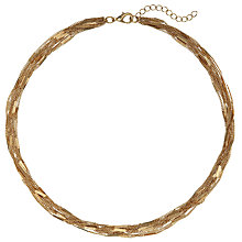 Buy John Lewis Fine Multi Layered Chain Necklace, Gold Online at johnlewis.com