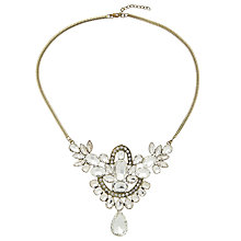Buy John Lewis Statement Large Stone Necklace, Gold/Clear Online at johnlewis.com