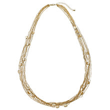 Buy John Lewis Hammered Discs Layered Long Necklace, Gold Online at johnlewis.com