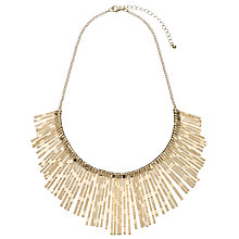 Buy John Lewis Textured Fan Necklace, Gold Online at johnlewis.com