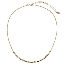Buy John Lewis Fine Textured Scoop Gold Plated Necklace, Gold Online at johnlewis.com