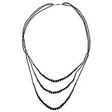 Buy John Lewis Sparkle Graduated Long Necklace, Black Online at johnlewis.com