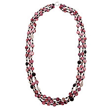 Buy John Lewis Layered Stone Long Necklace, Deep Purple Online at johnlewis.com