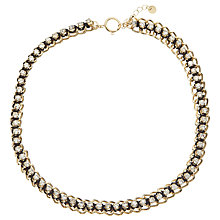 Buy John Lewis Chain & Stone Necklace, Gold / Clear Online at johnlewis.com