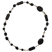 Buy John Lewis Mixed Semi-Precious Bead  Long Necklace, Black / Clear Online at johnlewis.com