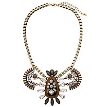 Buy COLLECTION by John Lewis Oval Statement Necklace, Grey/Clear Online at johnlewis.com