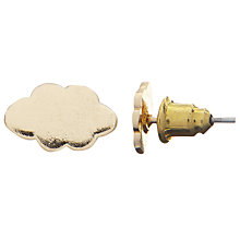 Buy John Lewis Cloud Earring, Gold Online at johnlewis.com