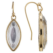 Buy John Lewis Mirrored Marquise Drop Earrings, Gold Online at johnlewis.com