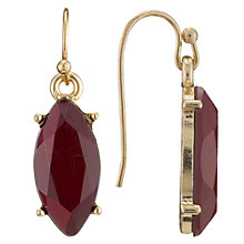 Buy John Lewis Coloured Tear Drop Hook Earrings, Purple Online at johnlewis.com