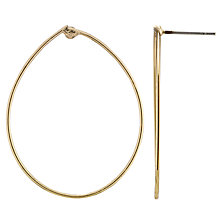 Buy John Lewis Fine Tear Drop Hoop Earrings, Gold Online at johnlewis.com