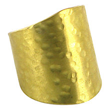 Buy Made Kagongo Adjustable Brass Ring Online at johnlewis.com