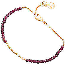 Buy Azuni New Fine Stone Bracelet, Red Online at johnlewis.com