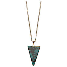 Buy Decadorn 9ct Gold Plated Isosocles Large Polished Pendant Online at johnlewis.com