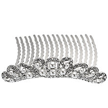 Buy John Lewis Pearl & Diamanté Hair Slide Online at johnlewis.com