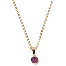 Buy Decadorn 9ct Gold Plated Small Polka Dot Drusy Pendant, Pink Online at johnlewis.com