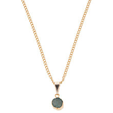 Buy Decadorn 9ct Gold Plated Small Polka Dot Drusy Pendant, Aqua Online at johnlewis.com